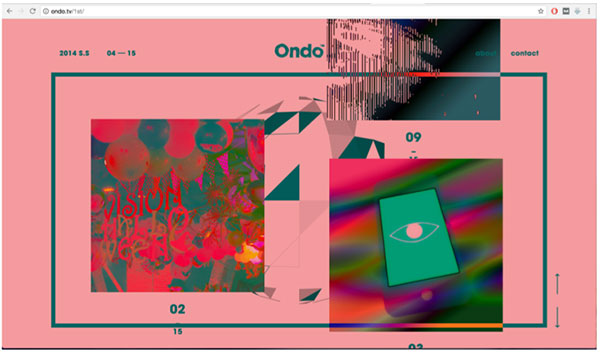 Website Ondo, te abstracte website
