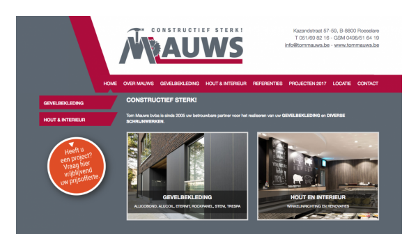 Website Mauws desktop