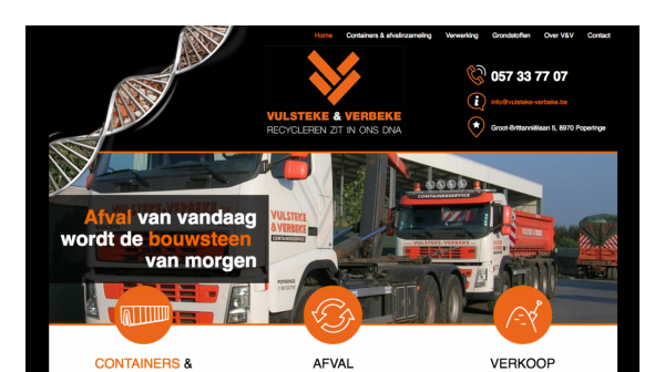 Website Vulsteke - Verbeke desktop