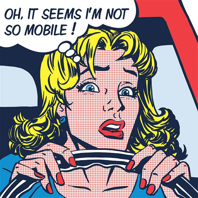 cartoon, Oh it seems i'm not so mobile!